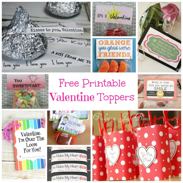 Free Printable Valentine Toppers