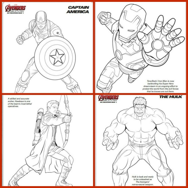 Marvel Avengers Coloring Pages for the Kids! - Experiencing Parenthood