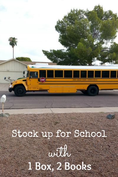 Stock up for School with 1 box, 2 books #Back2SchoolStockUp #cbias #Ad