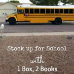Stock Up For School with 1 Box, 2 Books