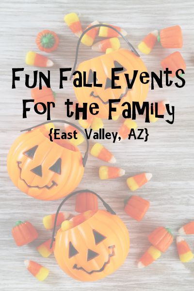 Fall Events for the Family {East Valley, AZ}