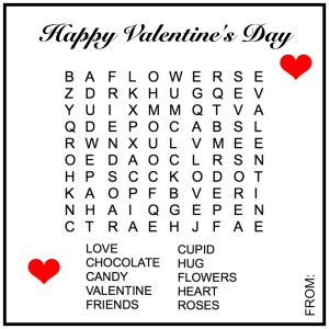 Word Search Valentine Printable