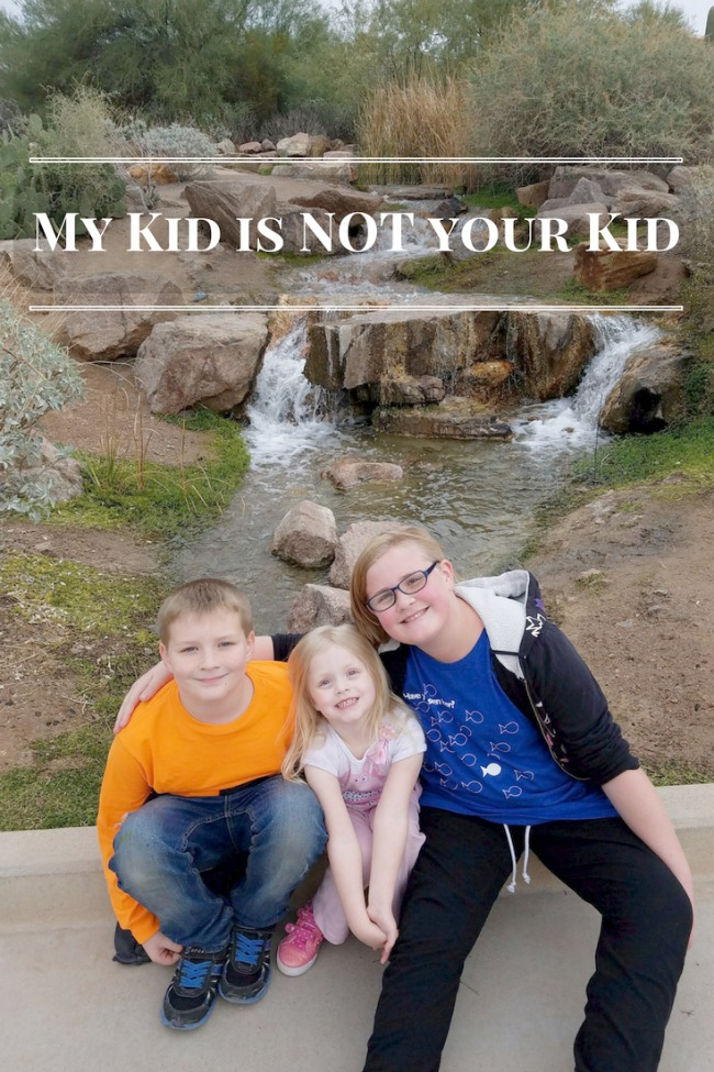 My Kid is NOT your Kid