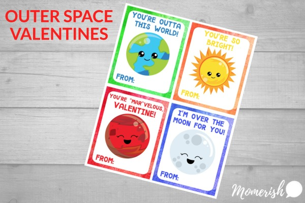 Space Valentine Printable