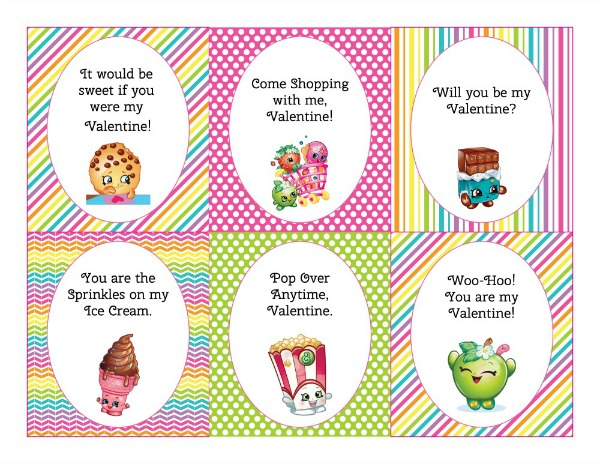 Shopkins Valentine Printable