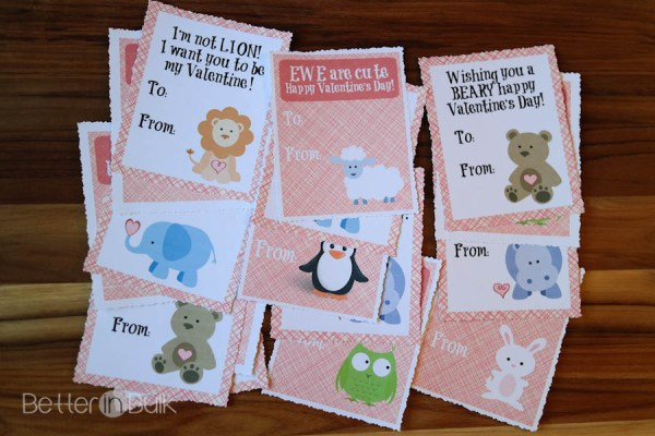 Cute Animal Valentine Printable