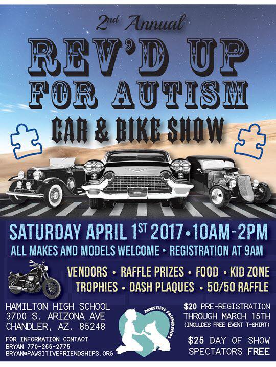 2ND ANNUAL REV'D UP FOR AUTISM CAR & BIKE SHOW